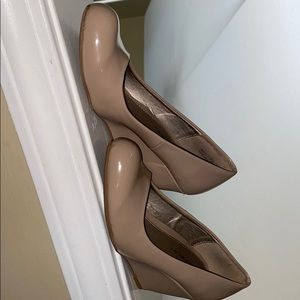 Nude Wedge Heels